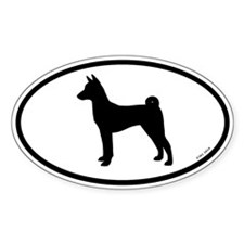 Basenji Oval Decal