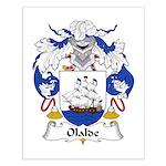 Olalde Family Crest Small Poster