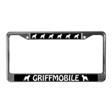 "Brussels Griffon ""Griffmobile"" License Plate Frame"