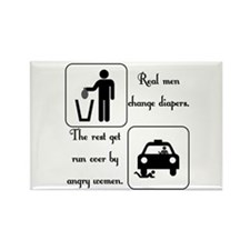 Real Men Change Diapers Rectangle Magnet (100 pack