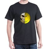 Half Smiley Skull  T-Shirt