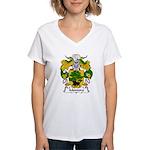 Montoro Family Crest  Women's V-Neck T-Shirt