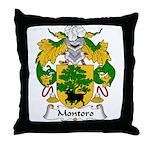 Montoro Family Crest  Throw Pillow