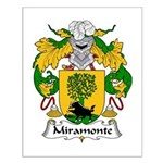 Miramonte Family Crest  Small Poster