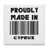 Proudly Made in Cyprus Tile Coaster
