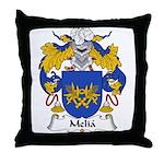 Melia Family Crest Throw Pillow