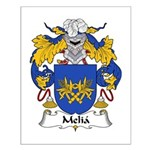 Melia Family Crest Small Poster