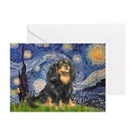 Starry Night Cavalier Greeting Cards (Pk of 20)