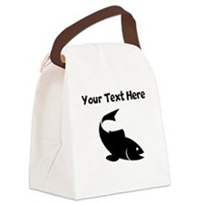 Trout Silhouette Canvas Lunch Bag