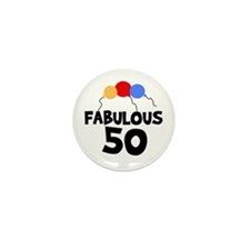 Fabulous 50 Mini Button (10 pack)