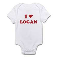 I LOVE LOGAN Infant Bodysuit