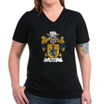 Loro Family Crest Women's V-Neck Dark T-Shirt