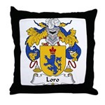 Loro Family Crest Throw Pillow