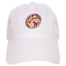 Distressed Peace Symbol #V12 Baseball Cap