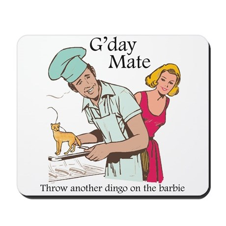 G'day Mate Dingo Mousepad