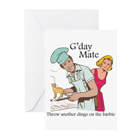 G'day Mate Dingo Greeting Cards (Pk of 10)