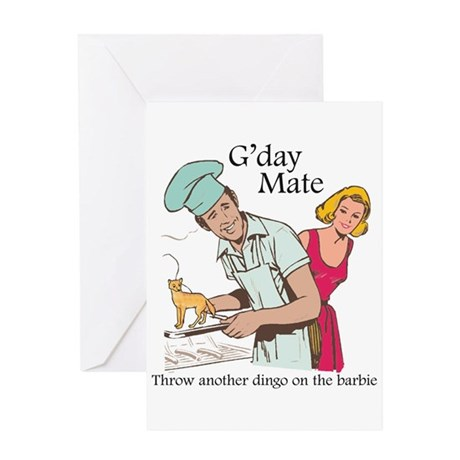 G'day Mate Dingo Greeting Card