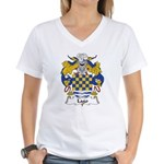 Lago Family Crest Women's V-Neck T-Shirt
