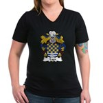 Lago Family Crest Women's V-Neck Dark T-Shirt