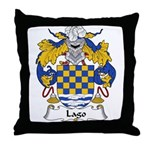 Lago Family Crest Throw Pillow