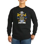 Lago Family Crest Long Sleeve Dark T-Shirt