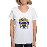 Kindelan Family Crest  Women's V-Neck T-Shirt