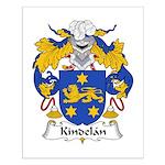 Kindelan Family Crest  Small Poster