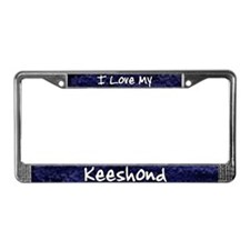 Funky Love Keeshond License Plate Frame