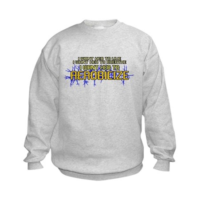 I Want Her to Aerobicize Kids Sweatshirt