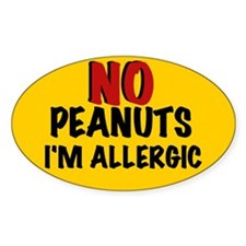 PEANUT ALLERGY Oval Decal