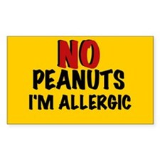 PEANUT ALLERGY Rectangle Decal
