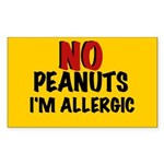 PEANUT ALLERGY Rectangle Sticker