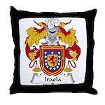 Iraola Family Crest Throw Pillow