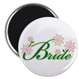 "Tropical Bride 2.25"" Magnet (100 pack)"