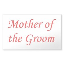 Mother of the Groom Rectangle Stickers