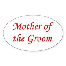 Mother of the Groom Oval Stickers