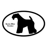 Kerry Blue Terrier Silhouette Decal