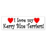 I Love My Kerry Blue Terriers Bumper Bumper Sticker
