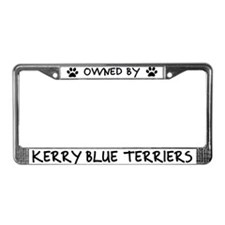 Owned by Kerry Blue Terriers License Plate Frame