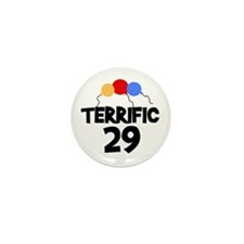 Terrific 29 Birthday Mini Button (10 pack)