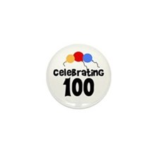 Celebrating 100 Mini Button (10 pack)