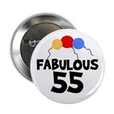 "Fabulous 55 2.25"" Button (10 pack)"