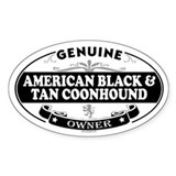 AMERICAN BLACK AND TAN COONHOUND Oval Decal