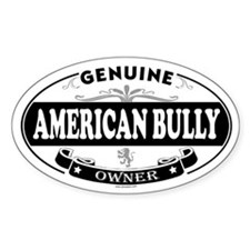 AMERICAN BULLY Oval Decal