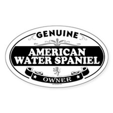 AMERICAN WATER SPANIEL Oval Decal