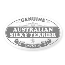 AUSTRALIAN SILKY TERRIER Oval Decal
