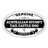 AUSTRALIAN STUMPY TAIL CATTLE DOG Oval Decal