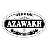 AZAWAKH Oval Decal