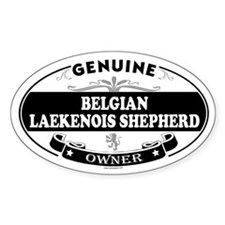 BELGIAN LAEKENOIS SHEPHERD Oval Decal