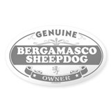 BERGAMASCO SHEEPDOG Oval Decal